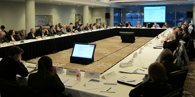 Great Lakes Executive Committee, Decembre 2014. Credit: Environment Canada.